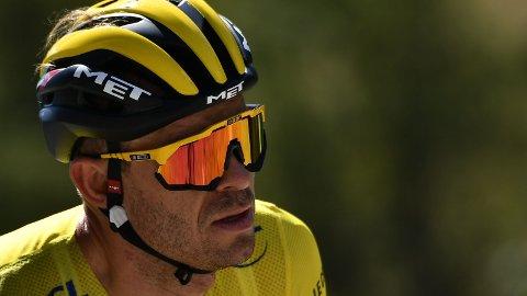MISTET DEN GULE TRØYA: Alexander Kristoff fikk det tøft i forsvaret av den gule trøya i Tour de France.