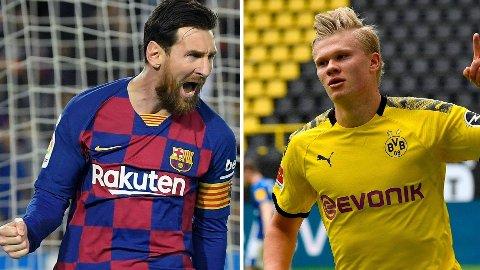 Erling Braut Haaland er tatt ut på samme lag som superstjernen Lionel Messi.