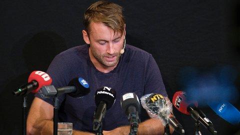 Petter Northug møtte pressen fredag 21. august etter han ble tatt for å ha kjørt 168 km i 110-sonen på E6.