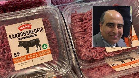 IKKE FARLIG: Mattilsynet avviser risiko for antibiotikarester i utenlandsk kjøtt i norske butikker: - Det er null funn, sier Waleed Alqaisy i Mattilsynet. Han har ledet kontrollarbeidet med fremmedstoffer i kjøttvarer fra EU/EØS i sju år.