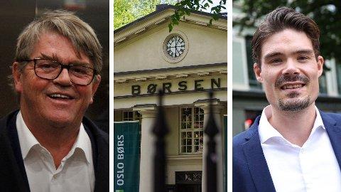 GODE RÅD: Aksjemegler Jan Petter Sissener (til venstre) og investeringsøkonom i Nordnet, Mads Johannesen, har mange gode råd til deg som vil satse på aksjehandel.