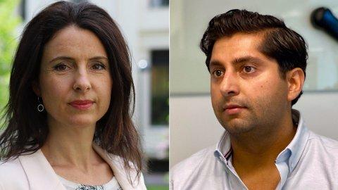 KUTT: Senterpartiets Jenny Klinge og Frps Himanshu Gulati er enig om at loven må endres for å stoppe statsstøtte til vegansamfunnet.