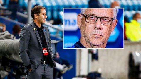 UENIGE: De to landslagssjefene hadde ulike syn etter kampen.