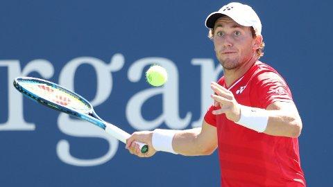 MÅTTE GI TAPT: Casper Ruud tapte tredjerundekampen mot Matteo Berrettini i US Open.