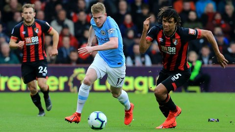 ER BLITT LAGKAMERATER: Nathan Aké er nå blitt lagkamerat med Manchester Citys Kevin De Bruyne.