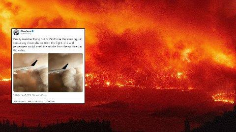 Kraftige branner preger California om dagen.