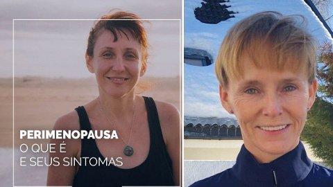 Laila Anita Bertheussen utga seg for å være kvinnen på bildet til venstre i sin falske Facebook-profil. Bildet er brukt i en rekke annonser og lignende i forbindelse med overgangsalderen som her. Til høyre Laila Anita Bertheussen slik hun faktisk ser ut.