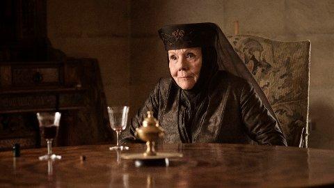 DØD: Diana Rigg spilte Olenna Tyrell i suksesserien «Game of Thrones».