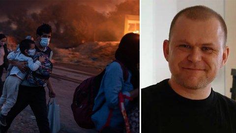 Lokalpolitiker Jarle Utne-Reitan forlater Høyre på grunn av partiets politikk etter brannen i Moria-leiren i Hellas.