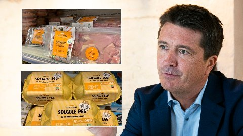 FÅR HARD MEDFART: Dyrevernalliansen har vært med å utvikle Rema 1000s Solvinge-produkter, men likevel blir de stemplet som ikke dyrevennlige av samme organisasjon. Her med sjef i Rema 1000 og styreleder i Norsk kylling, som produserer Solvinge, Ole Robert Reitan.