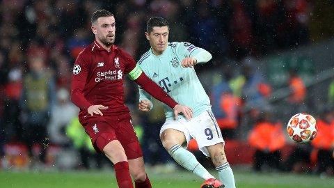 Bayern Munichs Robert Lewandowski og Liverpools Jordan Henderson kan ikke møte hverandre i gruppespillet i Champions League.