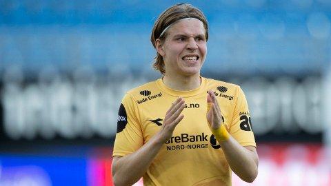 HAR HERJET: Jens Petter Hauge har herjet i Eliteserien i 2020, noe som har ført til massiv oppmerksomhet fra utenlandske klubber.