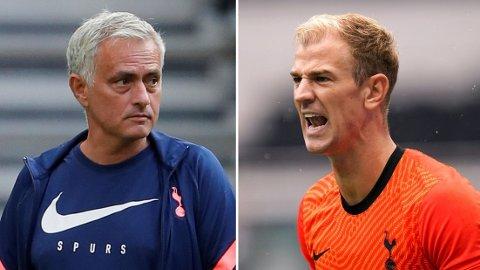 SPURS: Duoen José Mourinho og Joe Hart håper å få fart på karrierene sine i Tottenham. Foto: Reuters/Andrew Couldridge og David Klein/Sportimage