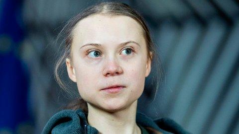 KRTISK:Den svenske aktivisten Greta Thunberg reagerer kritisk på en Twitter-melding der EU-sjef Ursula von der Leyen varsler skjerping av klimamålet i EU. (Photo by Kenzo TRIBOUILLARD / AFP)