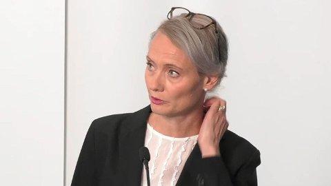 Sverige har stabile smittetall, forteller Karin Tegmark Wisell, avdelingssjef iFolkhälsomyndigheten.