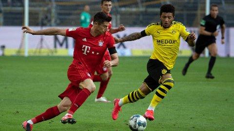 Bayern Münchens toppscorer Robert Lewandowski i aksjon forrige sesong.