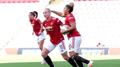 MÅLBEVISST: Manchester Uniteds kvinnelag har hatt en enorm utvikling de siste årene. Nå nærmer de seg Champions League.