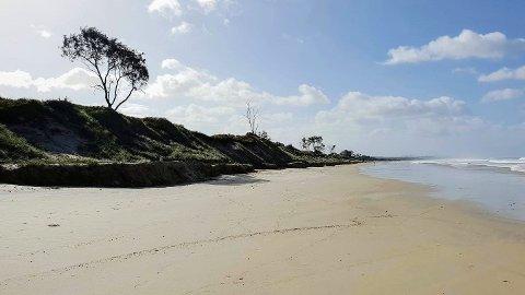 Det var på nudiststranden Tyagarah Beach i nærheten av Byron Bay i Australia, at en stor fest ble stoppet.