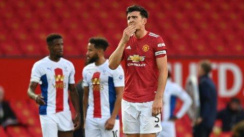 Harry Maguire depper etter 1-3-tapet mot Crystal Palace i ligaen. Vi tror han kan få mer å bekymre seg over etter onsdagens ligacupkamp i Brighton.