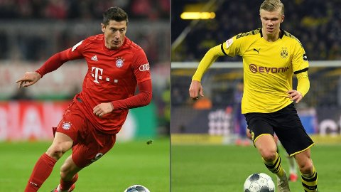 Robert Lewandowski og Erling Braut Haaland sørger for at onsdagens Supercup-finale i Tyskland blir en målrik affære.
