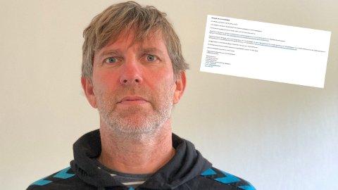 AVSLAG: Bjørn Lindgård i Stord IL måtte fortsette å bruke sin gamle politiattest.
