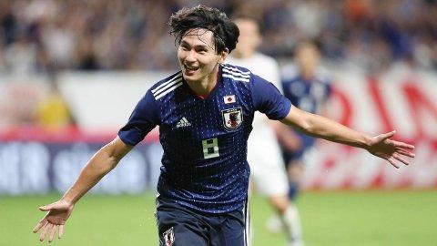 Takumi Minamino er stjernen på det japanske landslaget.