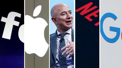 FAANG: Facebook, Apple, Amazon, Netflix og Google.