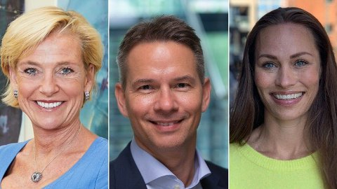GLADNYHET: Egen pensjonskonto, som kommer i januar, gjør pensjonsordningen gunstigere for kundene, mener ekspertene (f.v.) Alexandra Plahte, Tor Olsen og Cecilie Tvetenstrand.