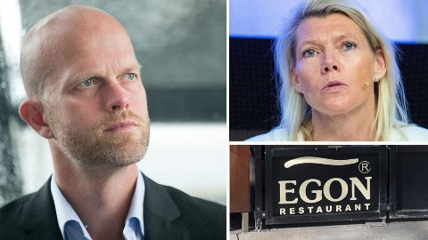 HARSELERER: Hallgeir Kvadsheim mener DNB-sjef Kjerstin Braathen leder en bank som best kan sammenliknes med Egon Restaurant.