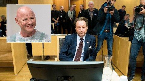 Kjell Inge Røkke i vitneboksen i rettssaken mot torpedoen Jan Erik «Jannik» Iversen som ble dømt for utpressing mot Røkke høsten 2019.