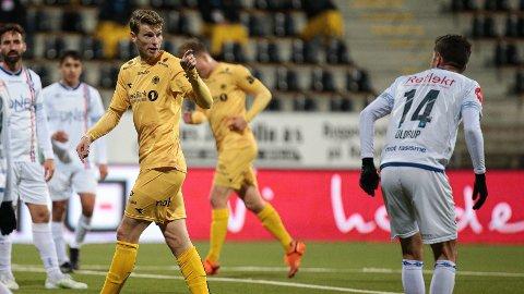 Glimt-spiss Kasper Junker jakter nye scoringer mot Mjøndalen søndag kveld.