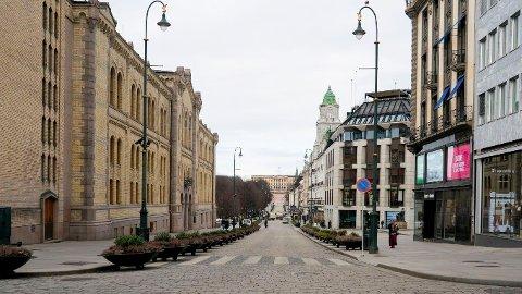 DØDT: Det ser ikke bra ut for sentrumshandelen i Oslo.