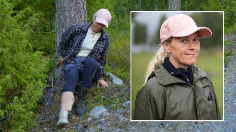 BLE SENDT TIL LEGEVAKTA: Inger Cecilie var ute av «Farmen» i en dag etter at hun fikk seg en kraftig smell på tømmerhoggingstur.
