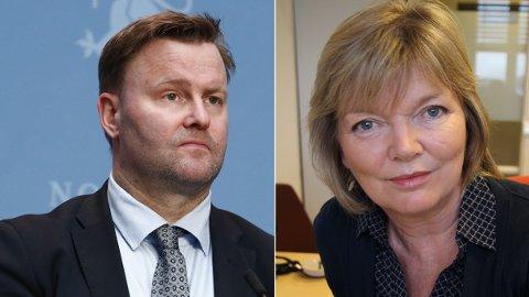 KRITISK: Legen Charlotte Haug (t.h.) irettesetter Espen Nakstad etter hans kritikk mot det nye oppropet for å lempe på alle de strenge tiltakene.