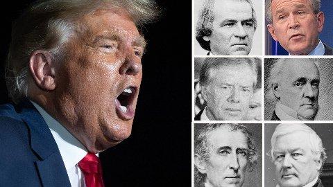 STERK KONKURRANSE: Mange mener Donald Trump er tidenes verste president. Men han møter sterk konkurranse tli den tittelen.