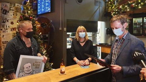 Årets ølhund - Stian «Staysman» Thorbjørnsen - mottok i ettermiddag den gjeve ølprisen på Ringnes Brygghus i Oslo.