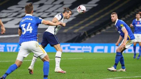 AVGJØRELSEN: Gareth Bale stanget inn vinnermålet, waliserens første fulltreffer for Tottenham siden comebacket i klubben.