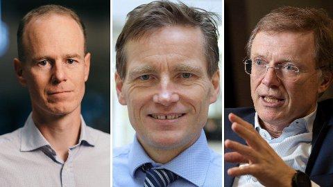 AKSJER FOR DÅRLIGE BØRSNERVER: Paul Harper (t.v.), Robert Næss og Peter Hermanrud gir deg aksjeanbefalinger i urolige børstider.