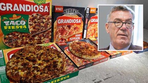 LØNNSOMT: Av de fem største i dagligvaremarkedet, har Stein Erik Hagens Orkla, som produserer pizzaen Grandiosa, den beste driftsmarginen, viser en fersk analyse.