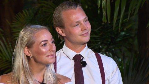 IKKE VENNER LENGER: Maria Moen og Marcus Tannum ble kjærester etter «Paradise Hotel». I dag snakker de ikke sammen. I podkasten SCHENDIS forteller de hvorfor.