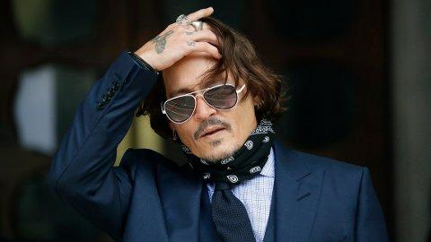 Johnny Depp var i retten i London i Storbritannia.
