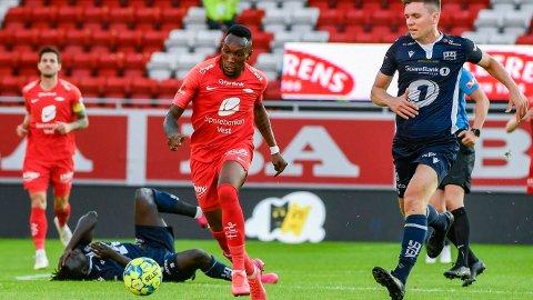 Det er seier og tre poeng som gjelder for Daouda Bamba og Brann i kveldens hjemmekamp mot Haugesund.
