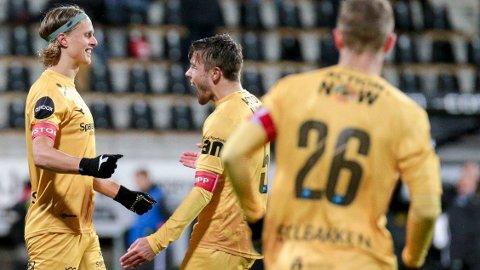JUBEL: Bodø/Glimt-gutta kunne feire for mange mål.