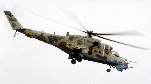 SKUTT NED: Det var et helikopter av denne typen, Mi-24, som ble skutt ned i Armenia. Arkivbilde: Sergei Venyavsky / AP