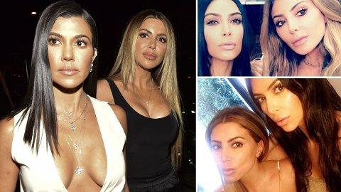 NÆRE VENNINNER: I flere år var Larsa Pippen nærmest en del av Kardashian-familien. Men så kuttet de brått all kontakt. Her med Kourtney Kardashian (til venstre) og Kim Kardashian (til høyre).