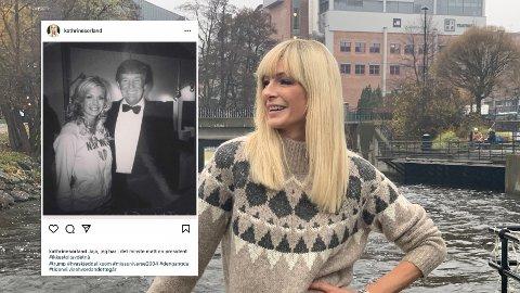 KRITIKK: Da Donald Trump ble valgt til USAs 45. president, delte Kathrine Sørland dette bildet på Instagram. Det fikk flere til å reagere.