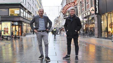 TAR OSLO-GREP: Ansvarlig redaktør i Avisa Oslo, Magne Storedal (t.v.) og styreleder Jostein Larsen Østring.