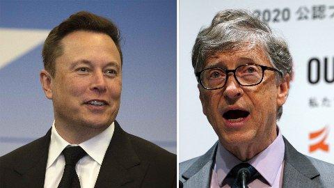 To av verdens rikeste personer, Elon Musk og Bill Gates.