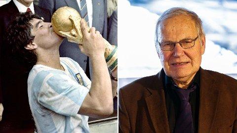Arne Scheie har uendelige med gode minner fra Diego Maradona sin fotballkarriere.