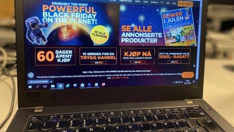 BLACK WEEK: En rekke nettbutikker har drøssevis med tilbud hele denne uken. Illustrasjonsbilde.